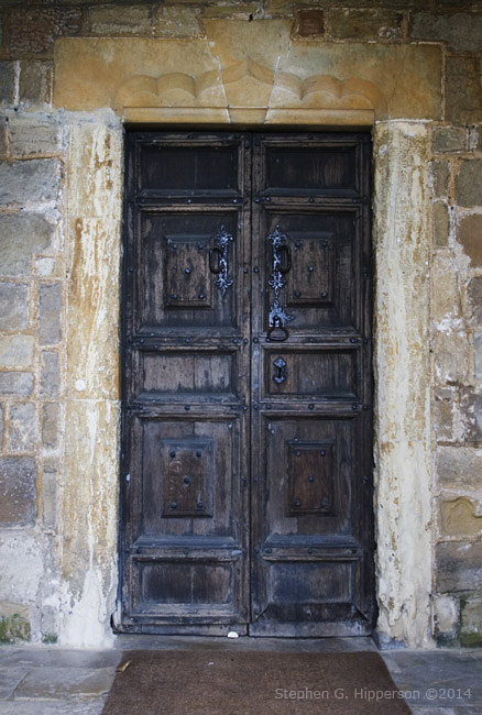 Door of Ledsham Church, West Yorkshire